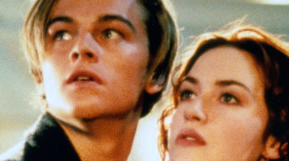 (from left to right) Leonardo DiCaprio and Kate Winslet in Titanic