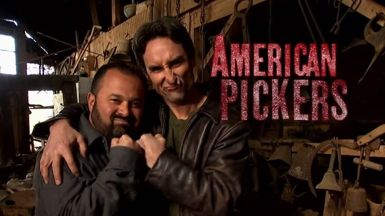 Frank Fitz and Mike Wolfe in American Pickers