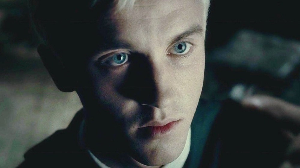 Draco Malfoy looking up