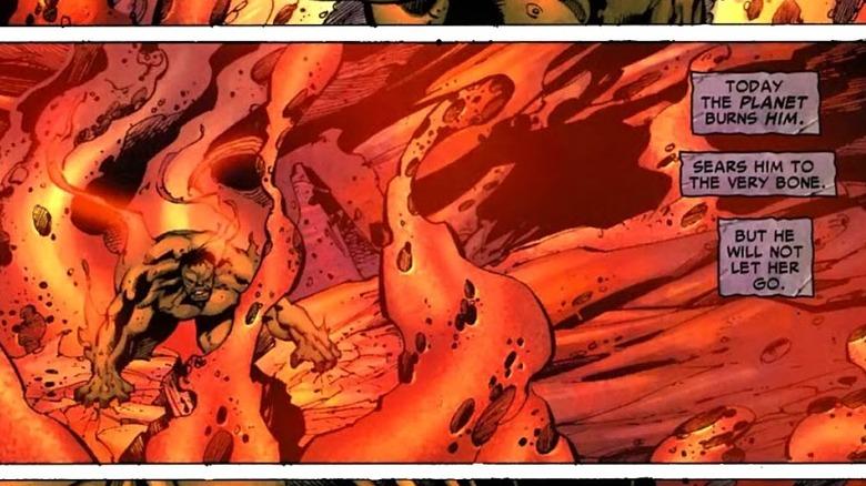 Hulk saving Sakaar in 2007's Incredible Hulk #102