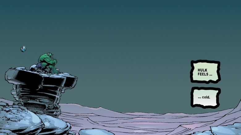 The Hulk realizing how lonely he is in 2002's Incredible Hulk: The End