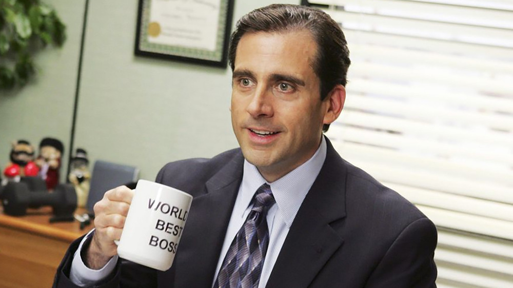 Michael Scott holding mug