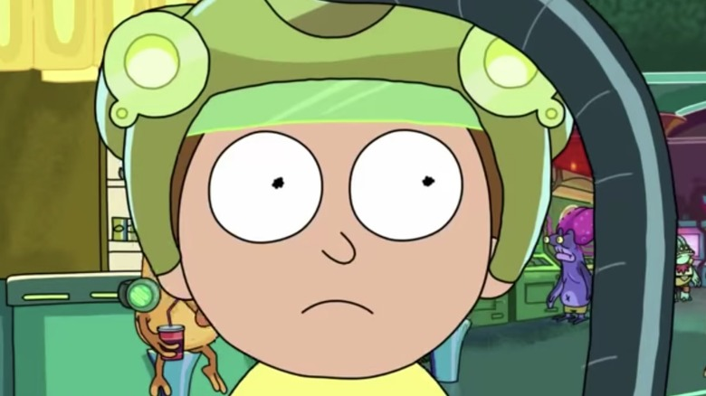 Morty in gaming helmet