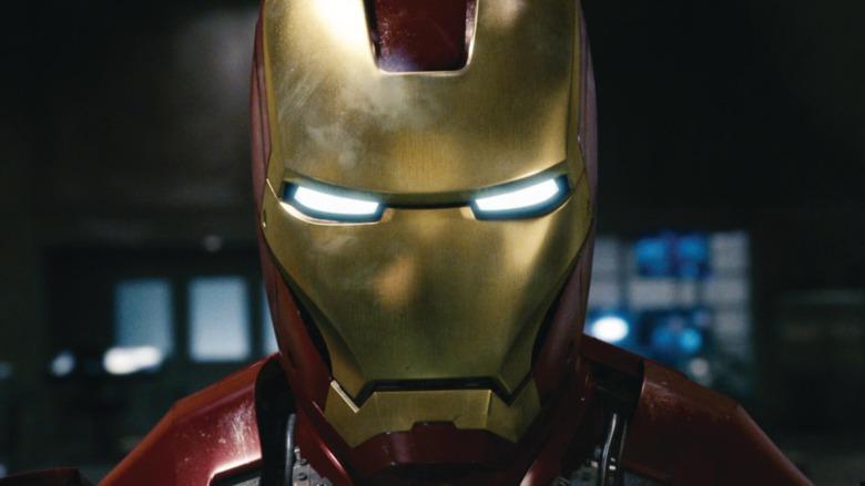 Iron Man armor glowing eyes