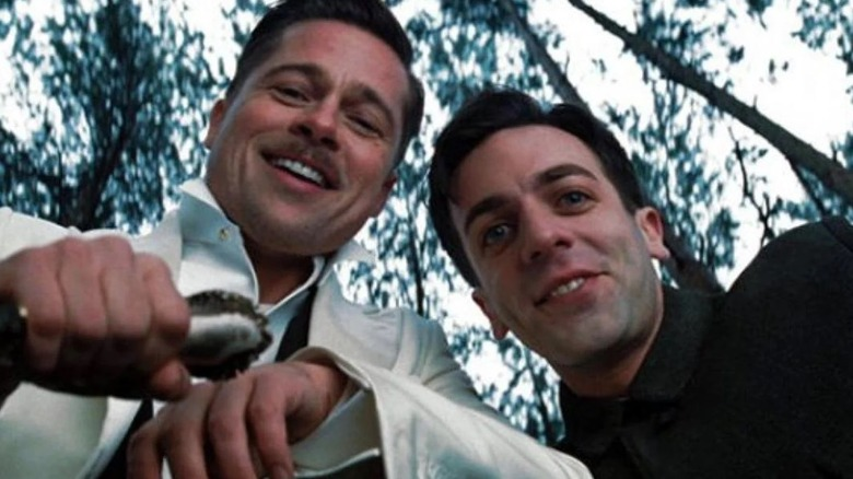 Brad Pitt and B.J. Novak in Inglourious Basterds