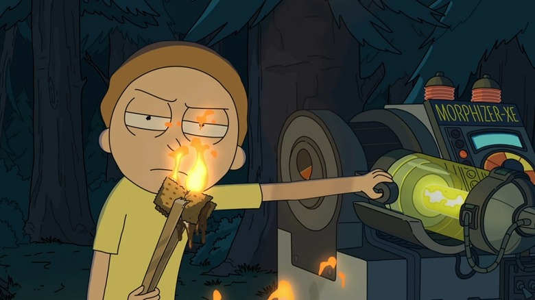 Morty threatening Ethan in episode 0305