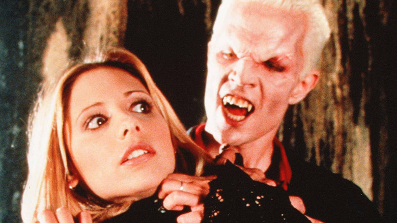 James Marsters as Spike and Sarah Michelle Gellar as Buffy Summers on Buffy the Vampire Slayer