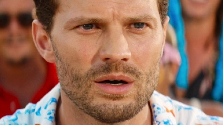 Jamie Dornan looking surprised