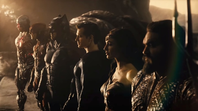 The titular Justice League in Zack Snyder's Justice League