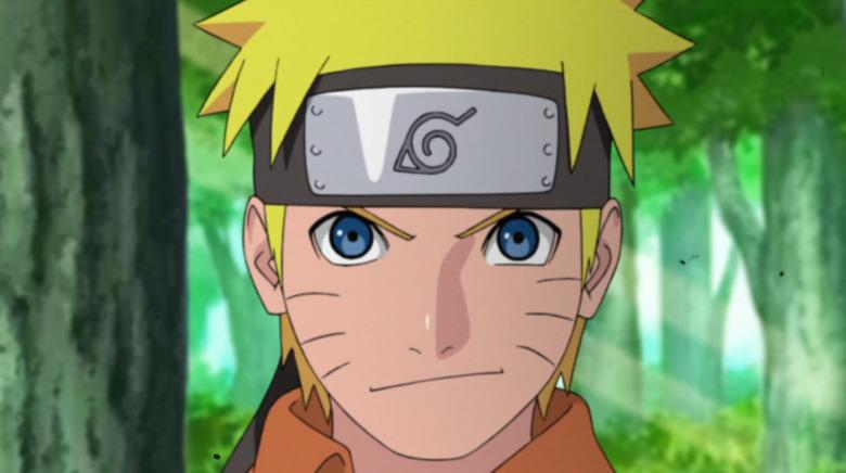 Naruto smirking confidently