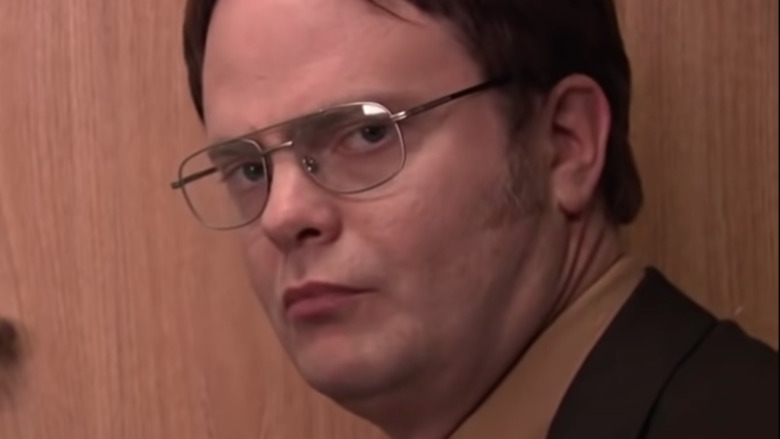 Dwight Schrute staring into camera