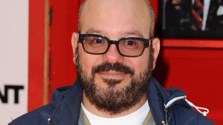 David Cross wearing glasses