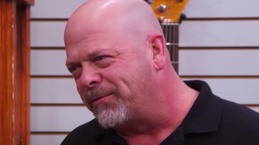 Rick Harrison in the shop
