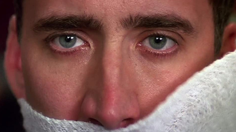 Nicolas Cage bandaged face