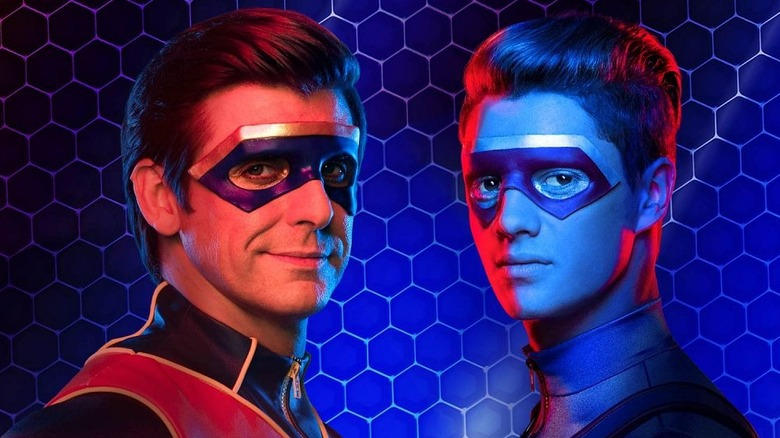 Henry Danger red and blue superheroes