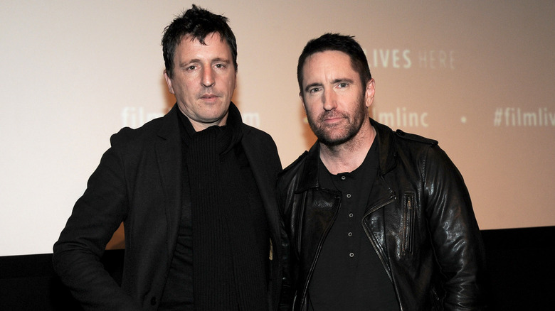 Nine Inch Nails wearing black