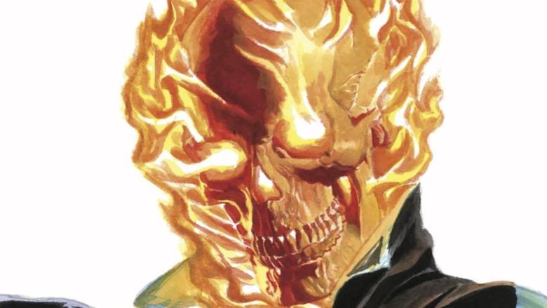Alex Ross draws Ghost Rider