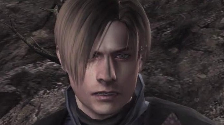 Leon S. Kennedy looks up