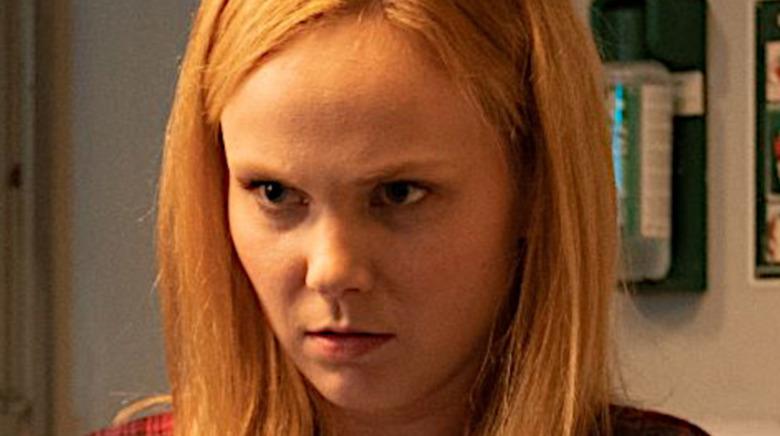 Natalia frowning