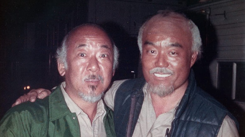 Pat Morita and Fumio Demura from archival photo seen in The Real Miyagi