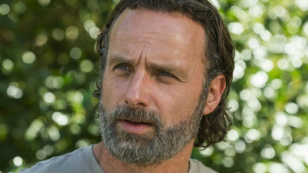 Rick Grimes in the woods