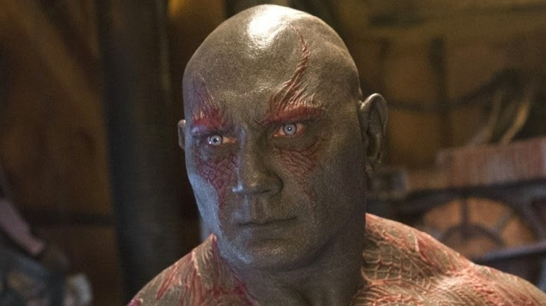 Drax looking serious
