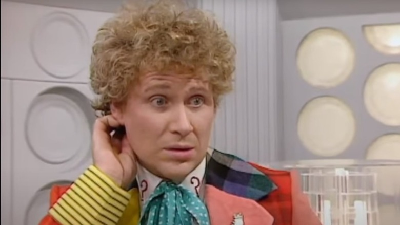 Colin Baker as the Sixth Doctor