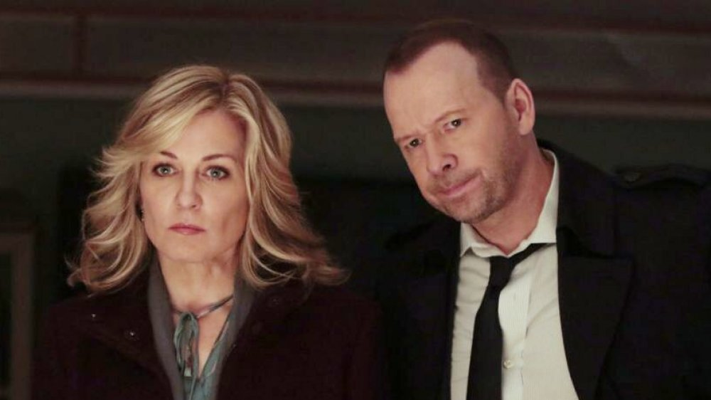 Amy Carlson and Donnie Wahlberg on Blue Bloods