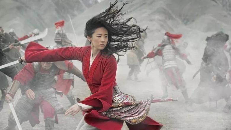 Lin Yifei as Hua Mulan in 2020's Mulan