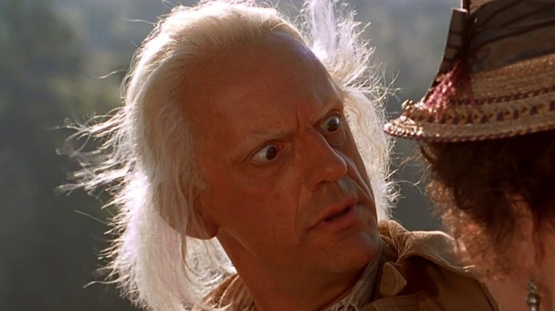 Christopher Lloyd looking shocked Back to the Future III