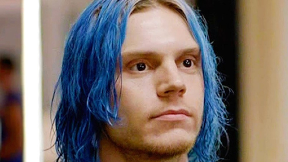 Kai Anderson with hair blue
