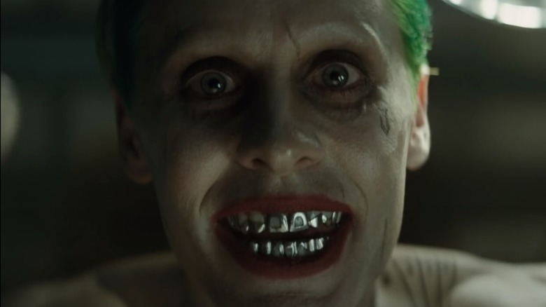 The Joker shows his teeth