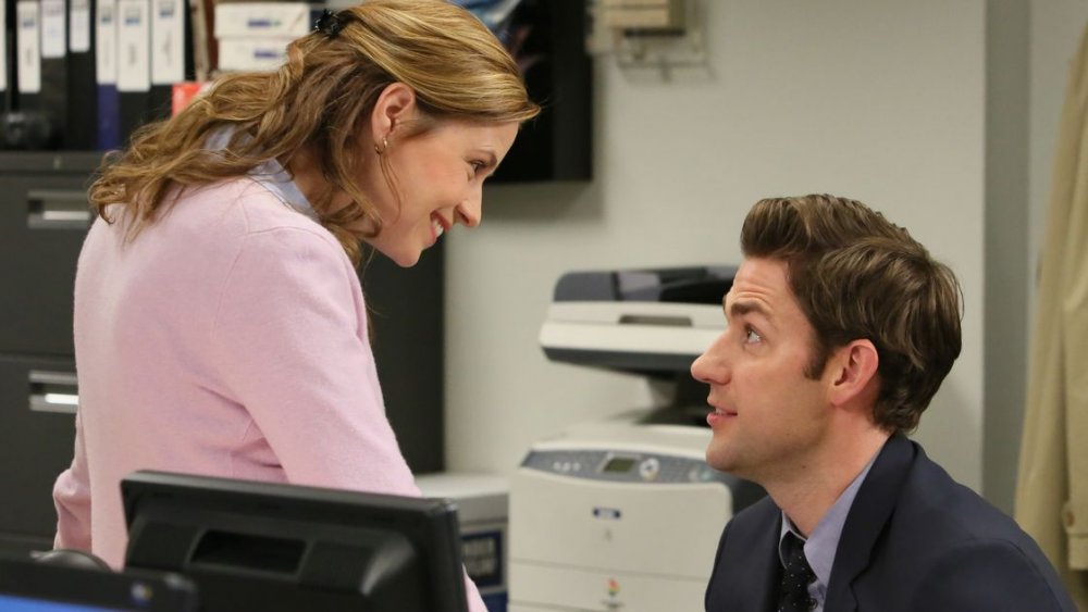Jenna Fischer and John Krasinski on The Office