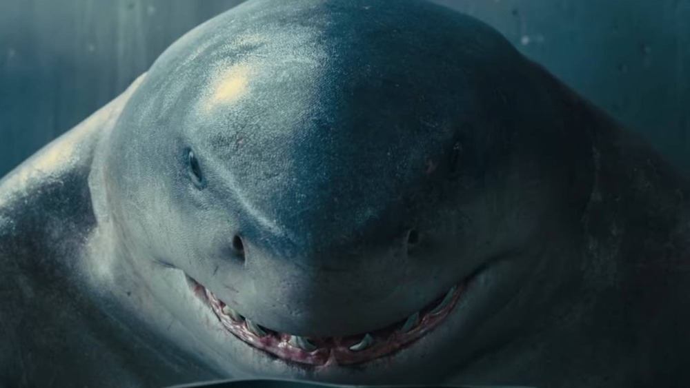 The Suicide Squad King Shark reading