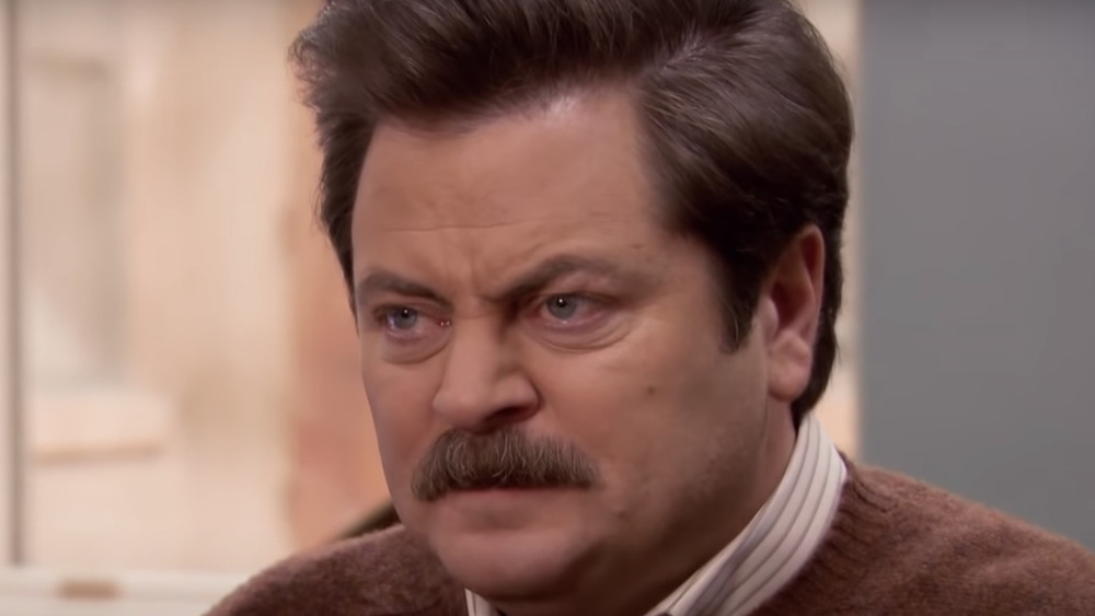 Ron Swanson angry