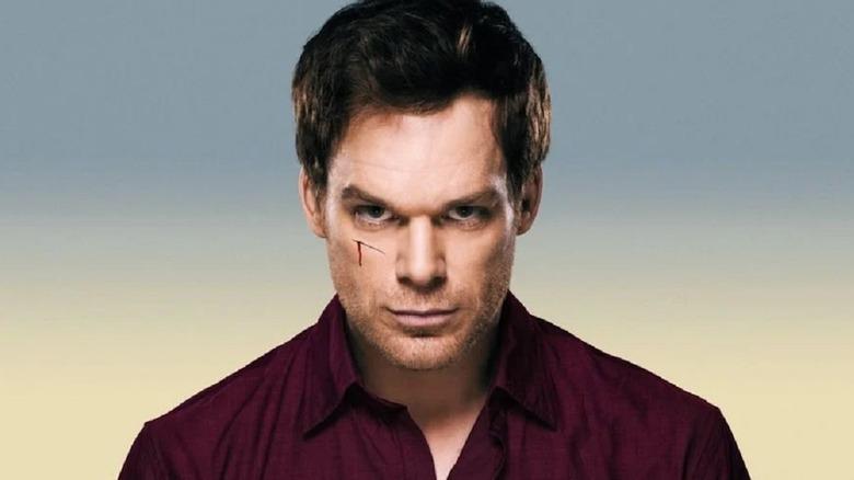 Michael C. Hall glaring in true Dexter fashion for promo shots