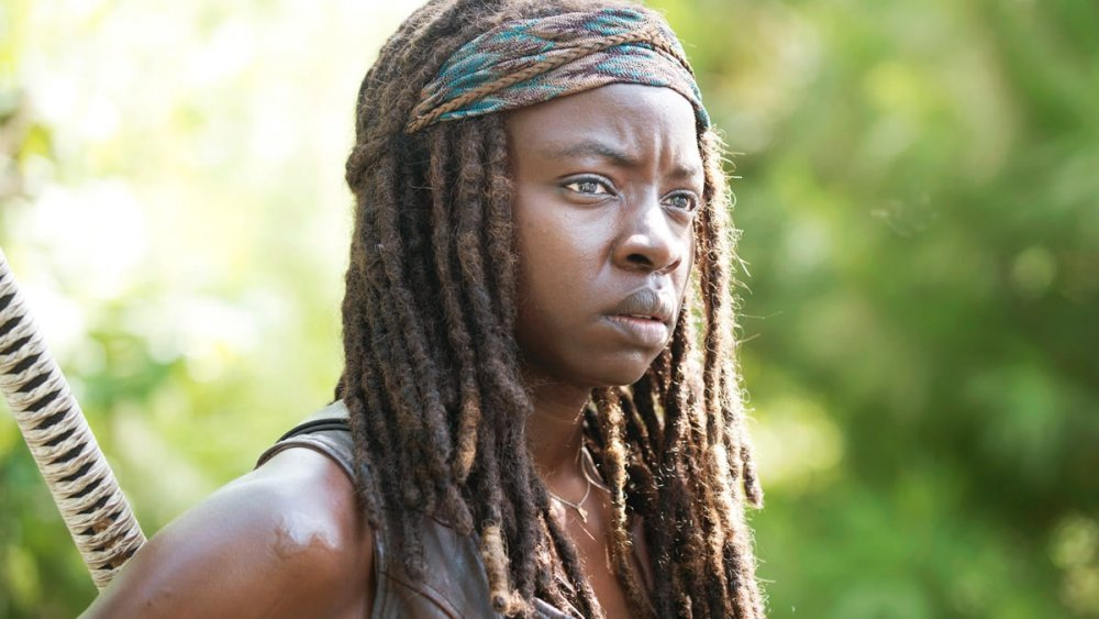 Danai Gurirar as Michonne on The Walking Dead season 5, episode 9