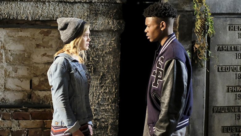 Aubrey Joseph and Olivia Holt in Cloak and Dagger