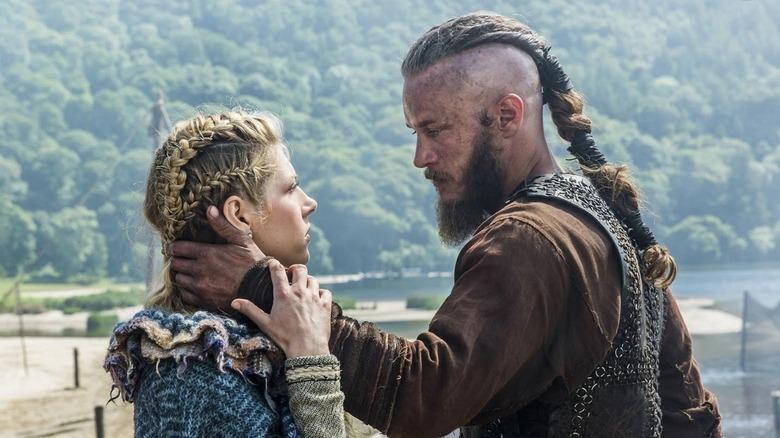 Lagertha and Ragnar saying goodbye