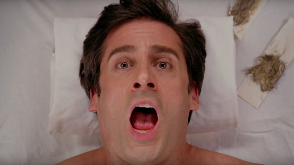 Steve Carell gets his chest waxed in The 40-Year-Old Virgin