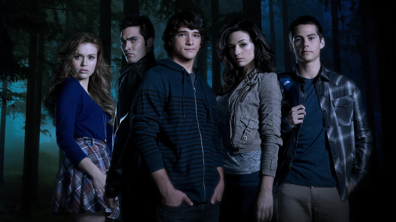Holland Roden, Tyler Hoechlin, Tyler Posey, Crystal Reed, and Dylan O'Brien on Teen Wolf