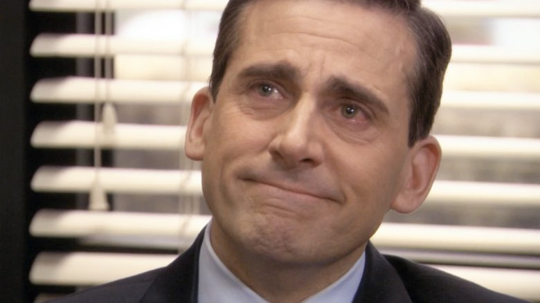 The Office Michael Scott crying