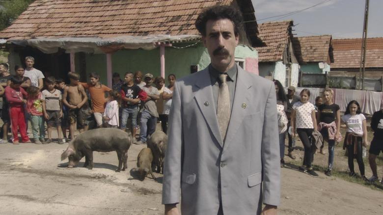 Borat standing Kazakhstan