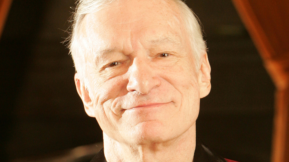 Hugh Hefner smiling
