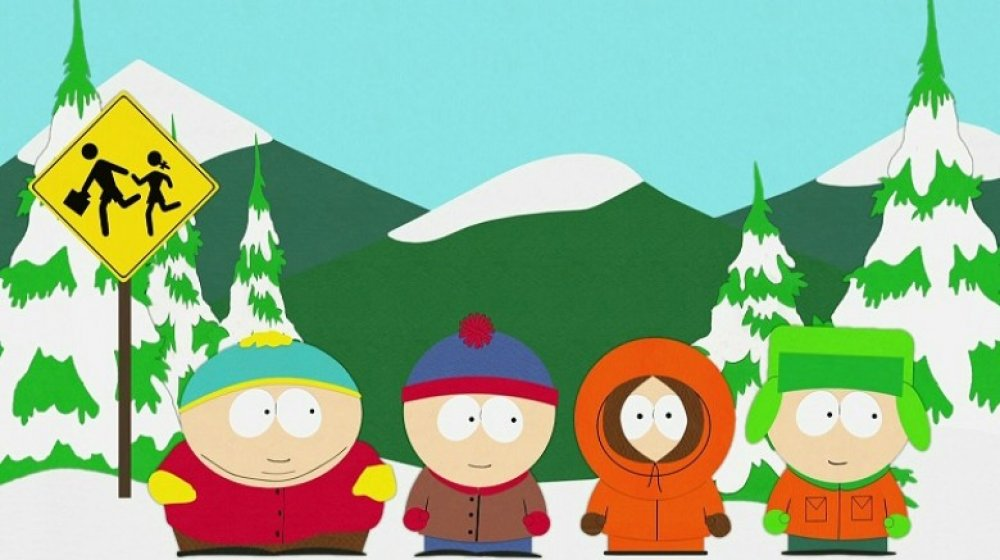 The animated cast of South Park