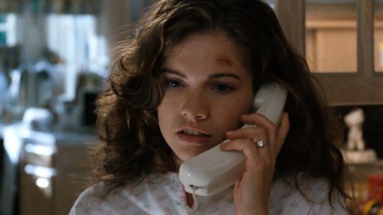 Heather Langenkamp on the phone