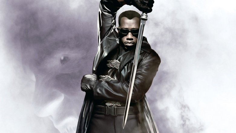 Wesley Snipes in promotional art from Blade
