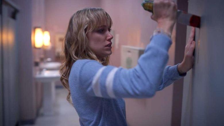 Maika Monroe as Clare in The Stranger