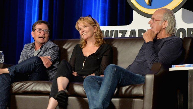 Michael J Fox, Lea Thompson, and Christopher Lloyd at Wizard World Philadelphia