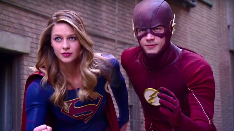 Supergirl and the Flash from the CW